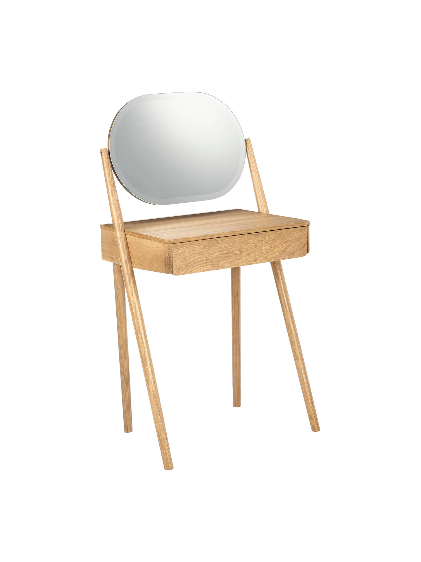 house-by-john-lewis-bow-dressing-table,-oak by house-by-john-lewis