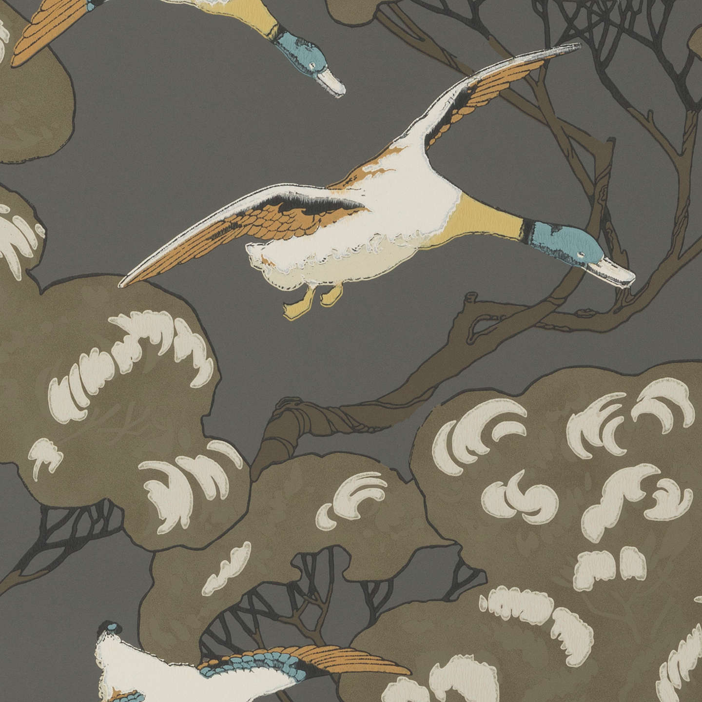 BuyMulberry Home Flying Ducks Wallpaper FG090A1010 Online At Johnlewis
