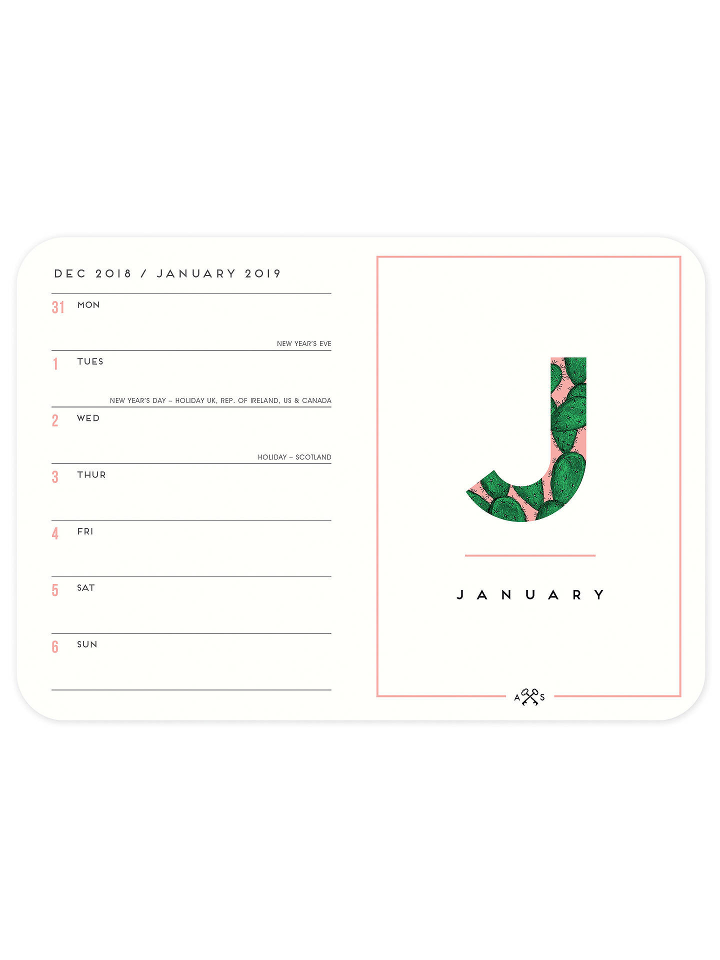 Buy Alice Scott 2019 Flexi Diary, A6 Online at johnlewis.com