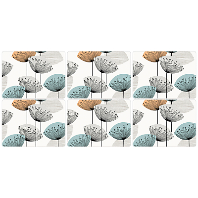 Sanderson Dandelion Clocks Placemats, Set of 6