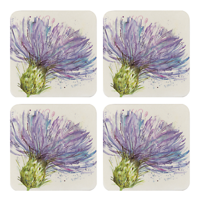 Voyage Thistles Coasters, Set of 4, Multi