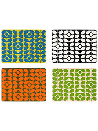 Orla Kiely 60s Flower Stem Placemats, Set of 4, Assorted