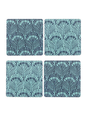 BuyJohn Lewis & Partners Java Reversible Coasters, Set of 4, Blue Online at johnlewis.com
