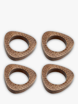 Buy John Lewis & Partners Hammered Napkin Rings, Set of 4, Copper Online at johnlewis.com