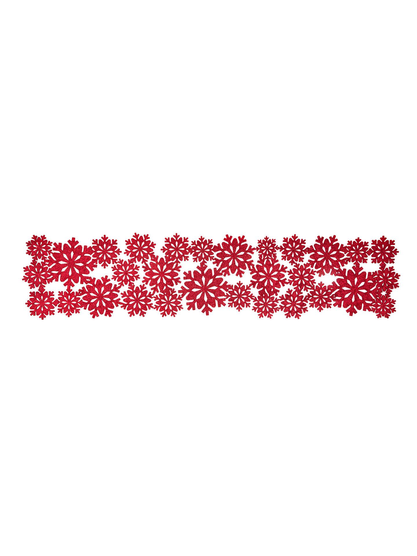 John Lewis & Partners Felt Christmas Snowflake Table Runner ...