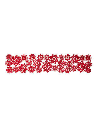 Buy John Lewis & Partners Felt Christmas Snowflake Table Runner Centrepiece, Red, L100cm Online at johnlewis.com