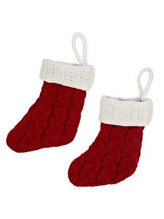 Buy John Lewis & Partners Christmas Stocking Cutlery Bags, Set of 2 Online at johnlewis.com