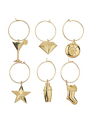 john lewis partners christmas party wine charms gold - Christmas Wine Charms