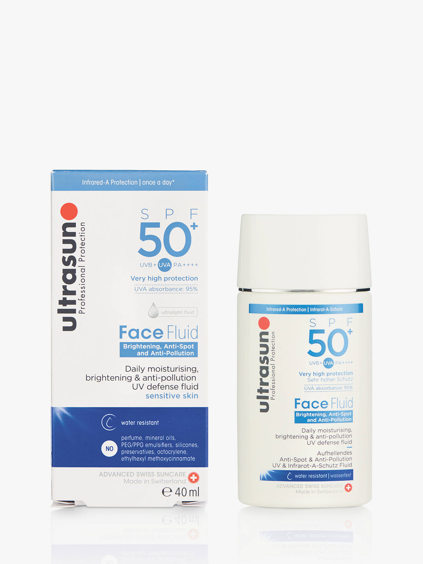 BuyUltrasun Daily Face Fluid SPF 50+, 40ml Online at johnlewis.com