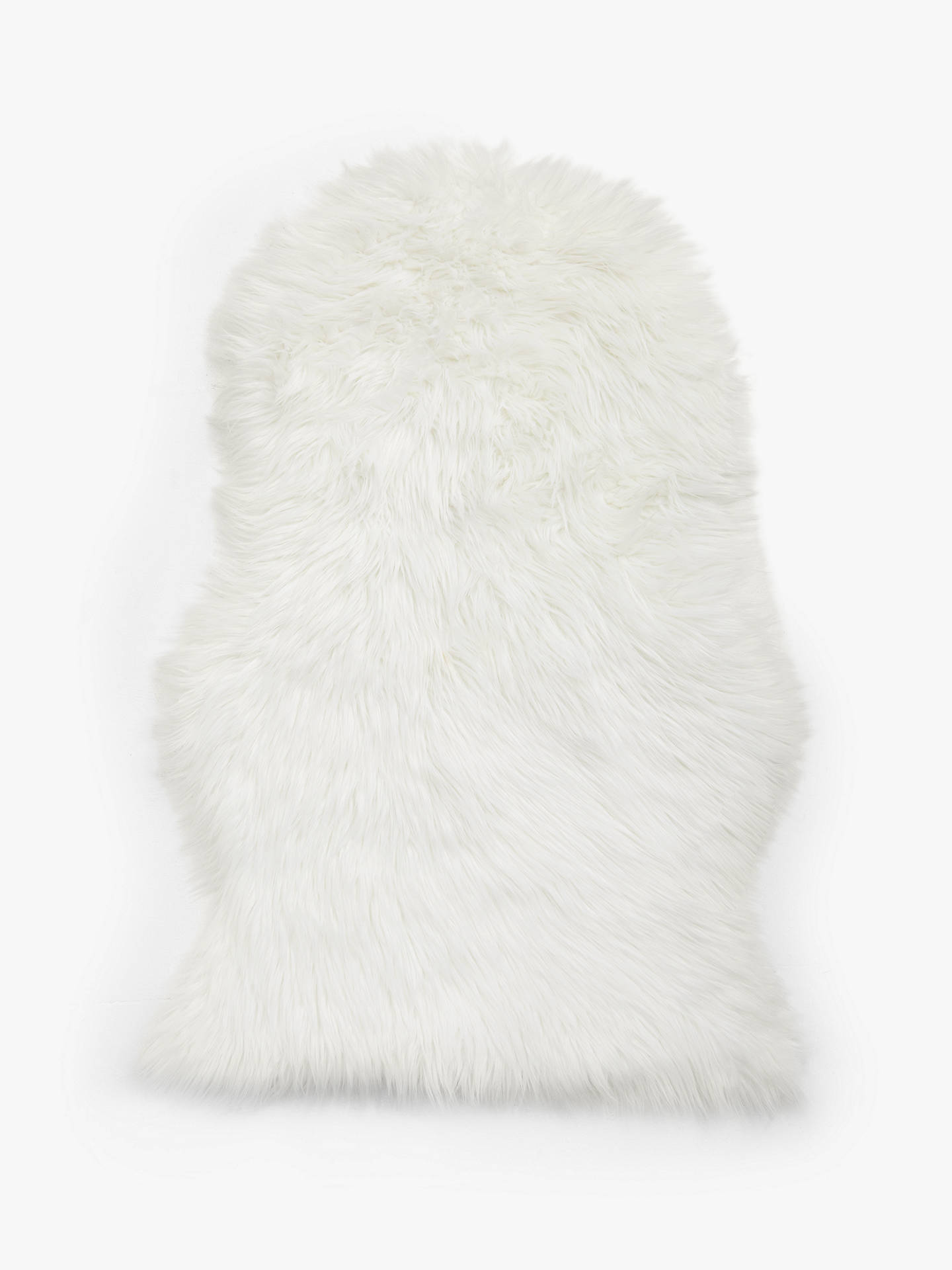 John Lewis Partners Synthetic Sheepskin Rug Ivory