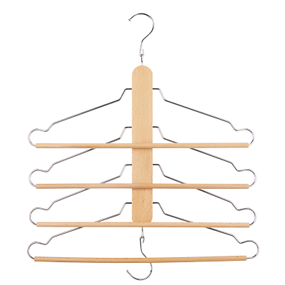 John Lewis & Partners Space Saving Beech Hanger, Set of 4