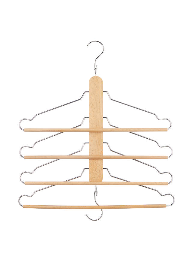 Buy John Lewis & Partners Space Saving Wooden Hanger, Beech Online at johnlewis.com