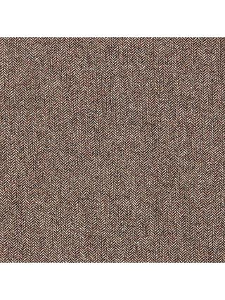 Viscount Textiles Wool Suiting Herringbone Print Fabric, Brown