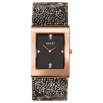 Sekonda Women's Seksy Swarovski Crystal and Crystal Rock Bracelet Strap Watch