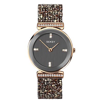 Sekonda Women's Seksy Swarovski and Rock Crystal Round Bracelet Strap Watch