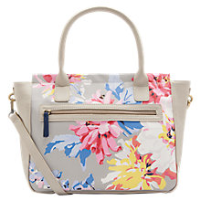 Buy Joules Day To Day Whitstable Floral Print Handbag, Grey/Multi Online at johnlewis.com
