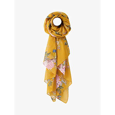 Joules Chinoise Flower Wensley Scarf, Gold/Multi