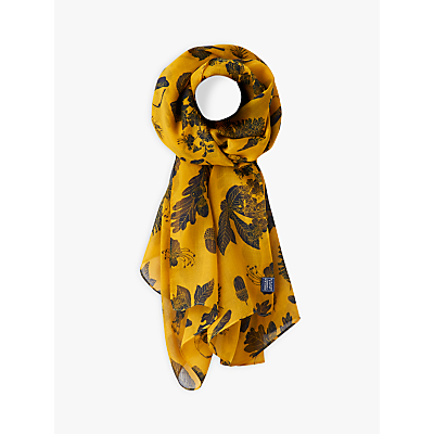 Joules Botanical Floral Wensley Scarf, Gold/Multi