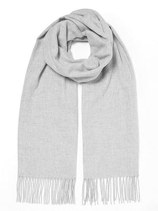 Buy John Lewis & Partners Cashmink Plain Scarf, Grey Online at johnlewis.com