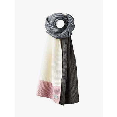Joules Annis Colour Block Scarf, Light Grey/Multi