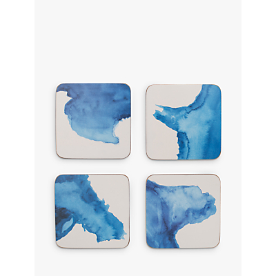 Rick Stein Coves of Cornwall Coasters, Set of 4, Blue/White