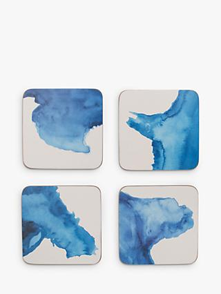 Rick Stein Cork-Backed Coves of Cornwall Coasters, Set of 4, Blue/White