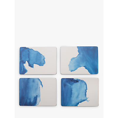 Rick Stein Coves of Cornwall Placemats, Set of 4, Blue/White