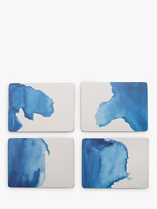 Rick Stein Cork-Backed Coves of Cornwall Placemats, Set of 4, Blue/White