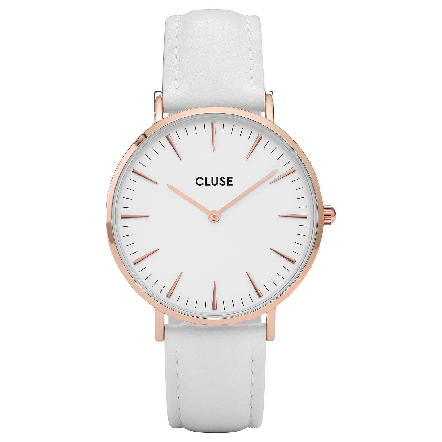 shop minuit watches cluse product leather silver