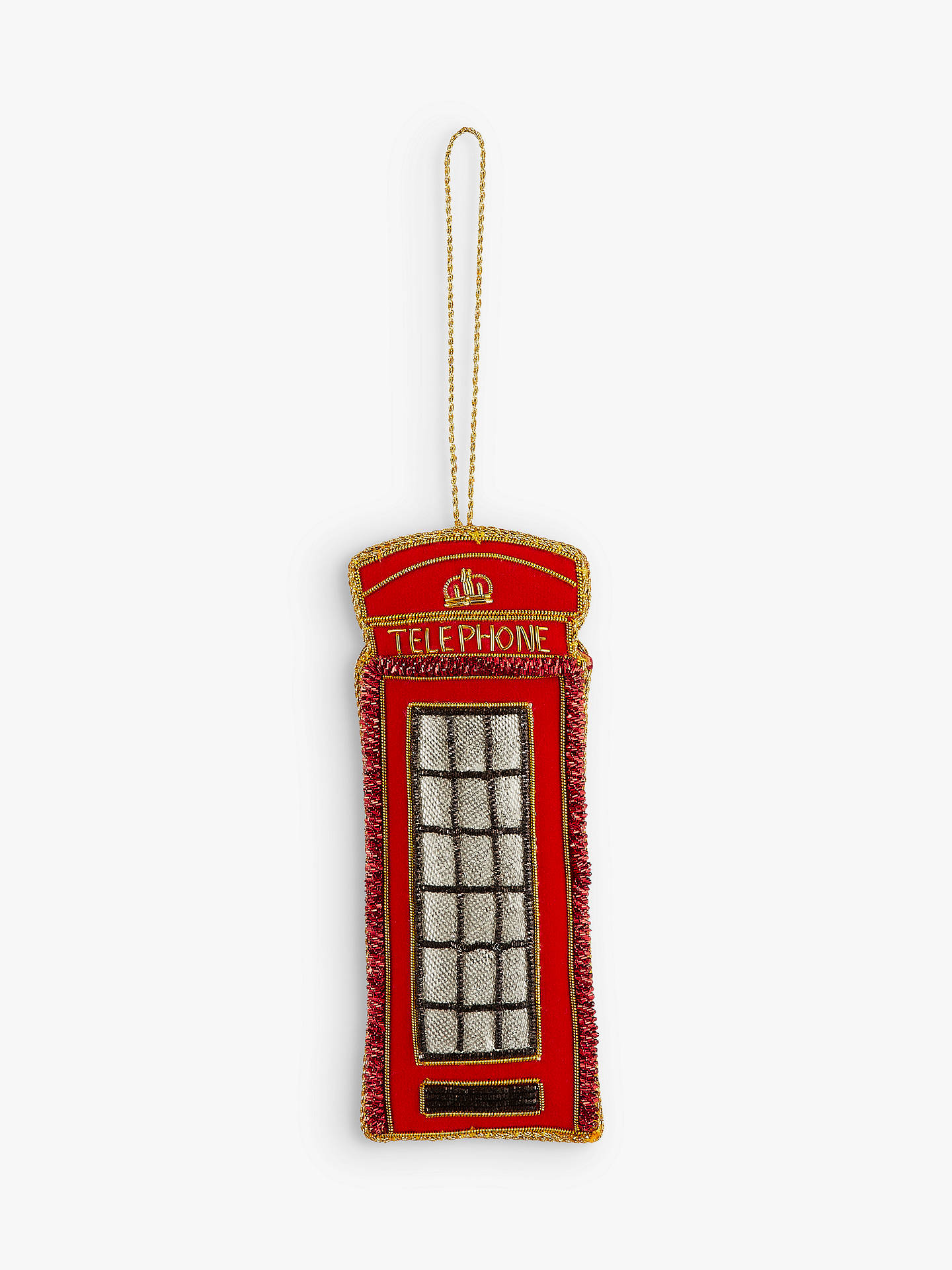 BuyTinker Tailor Telephone Box Tree Decoration Online at johnlewis.com