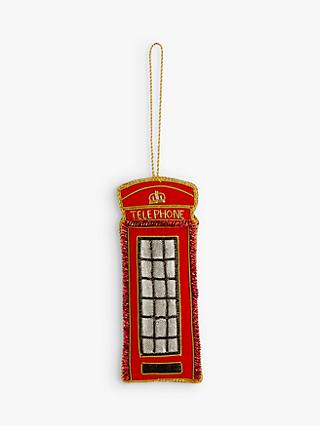 Tinker Tailor Telephone Box Tree Decoration
