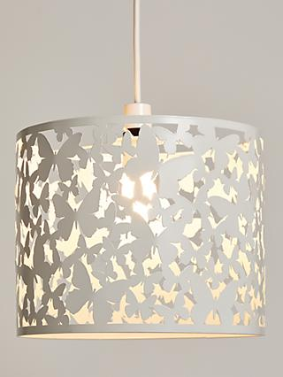 little home at John Lewis Butterflies Lampshade, White