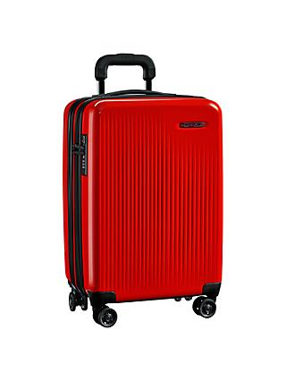 Briggs & Riley Sympatico 4-Wheel Expandable Domestic Cabin Suitcase, Fire Red