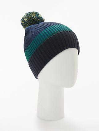 John Lewis & Partners Stripe Bobble Hat