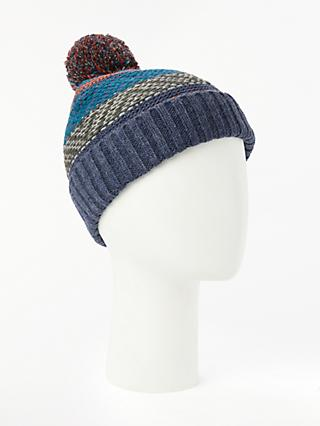 John Lewis & Partners Fair Isle Bobble Hat, Multi