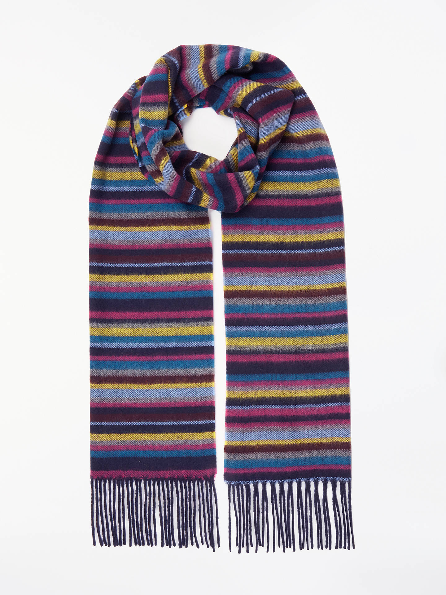 BuyJohn Lewis & Partners Cashmink Stripe Scarf, Multi Online at johnlewis.com
