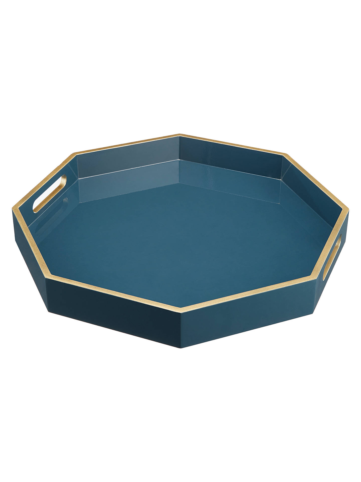 Buy John Lewis & Partners Collector's House Octagon Tray, Blue Online at johnlewis.com