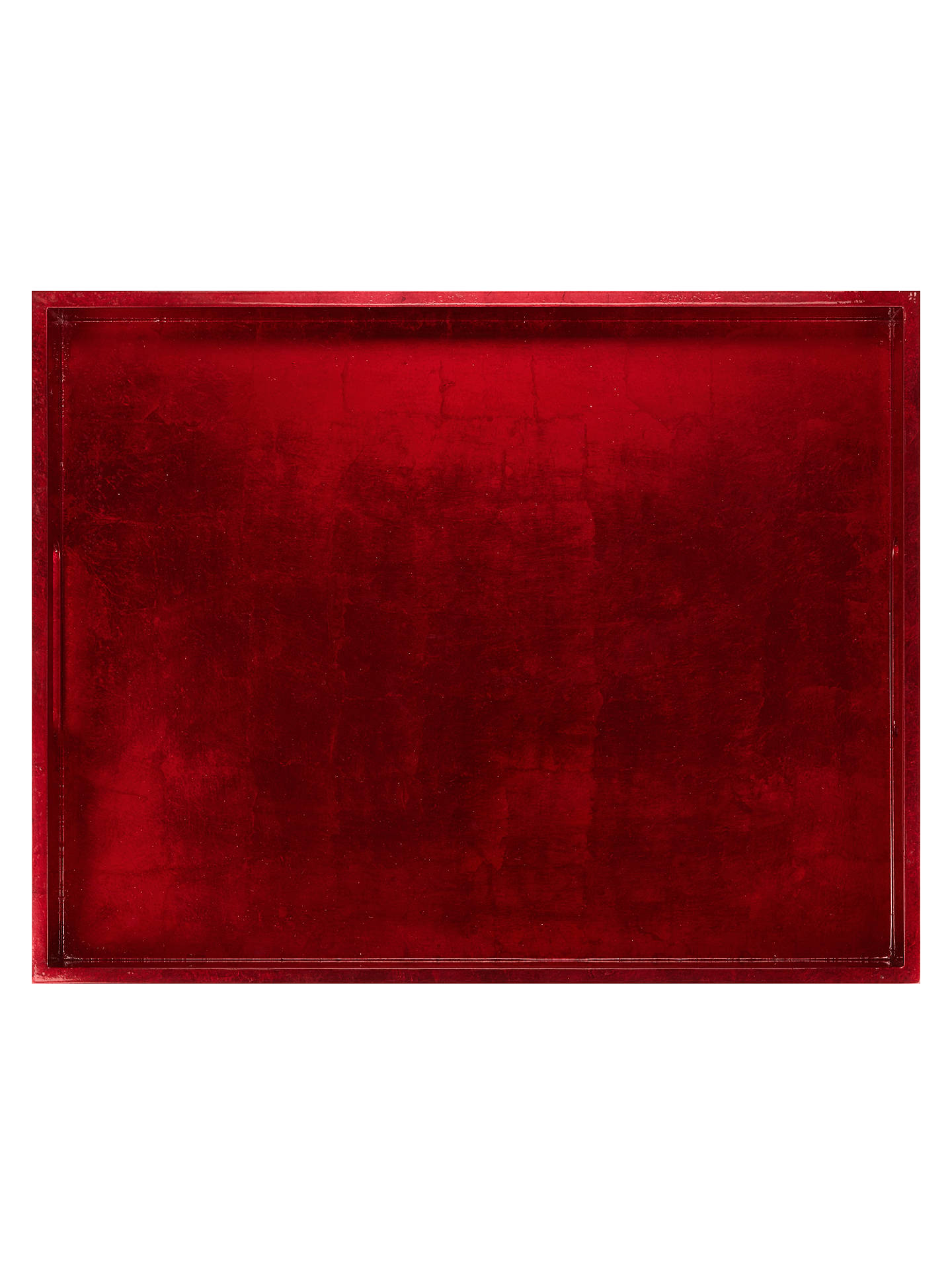 Buy John Lewis & Partners Rectangular Lacquer Tray, Red Online at johnlewis.com