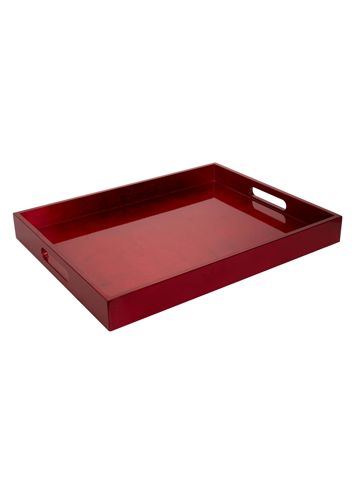 BuyJohn Lewis & Partners Rectangular Lacquer Tray, Red Online at johnlewis.com