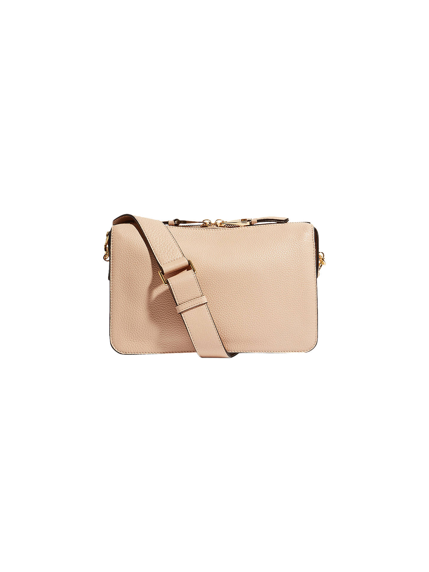 cc4f5421c4 Buy Karen Millen Compartment Leather Shoulder Bag, Neutral Online at  johnlewis.com ...