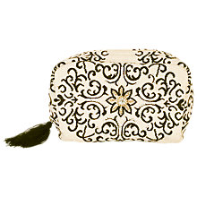 Buy chesca Floral Embroidered Clutch Bag, Natural/Black Online at johnlewis.com