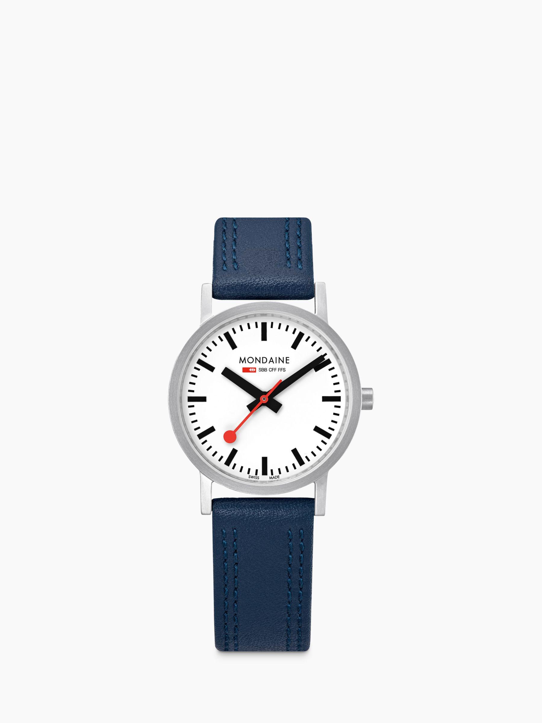 Mondaine Mondaine Unisex SBB Classic Stitch Leather Strap Watch