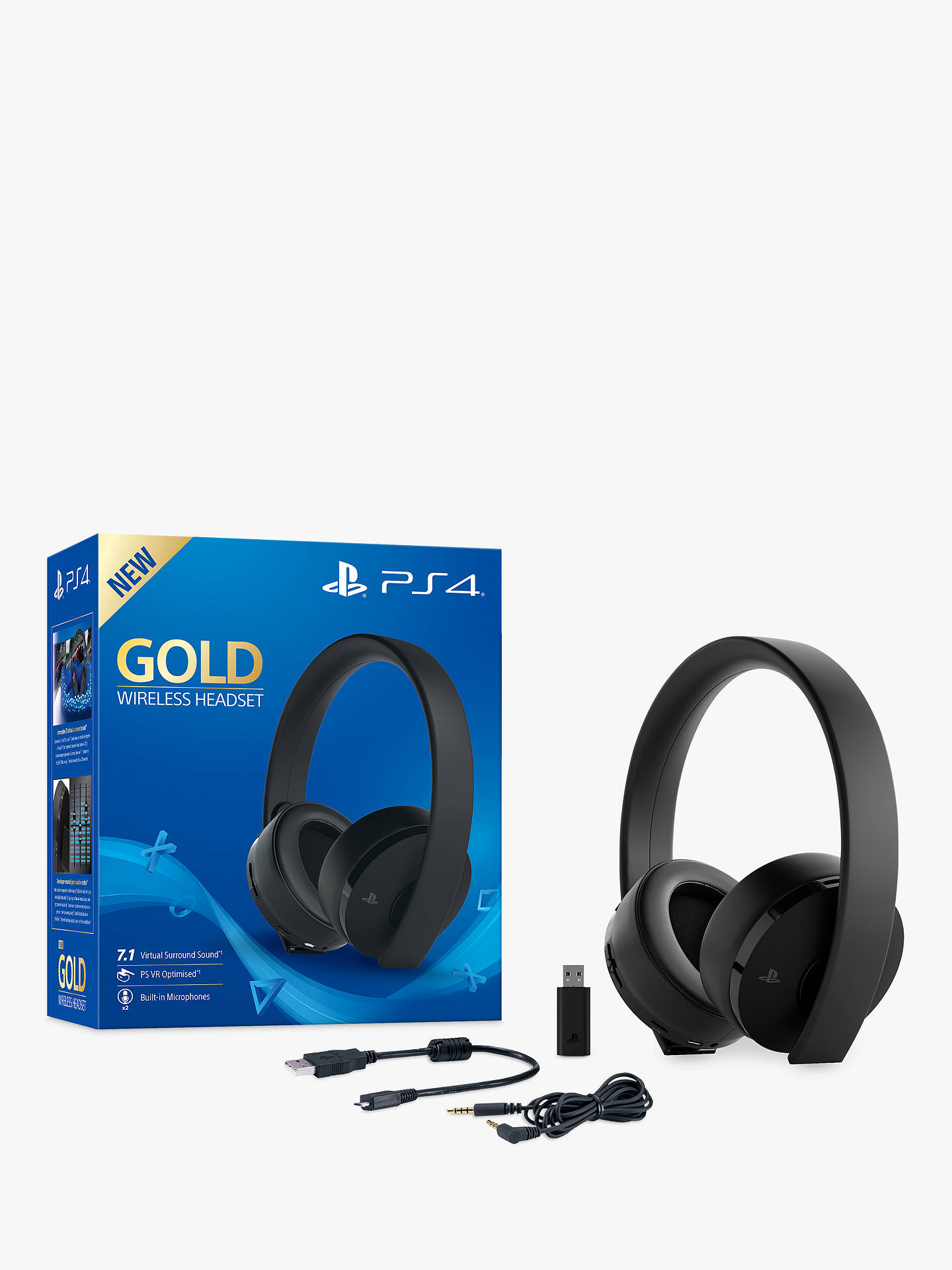 Buy Sony PS4 Gold Wireless Headset Online at johnlewis.com