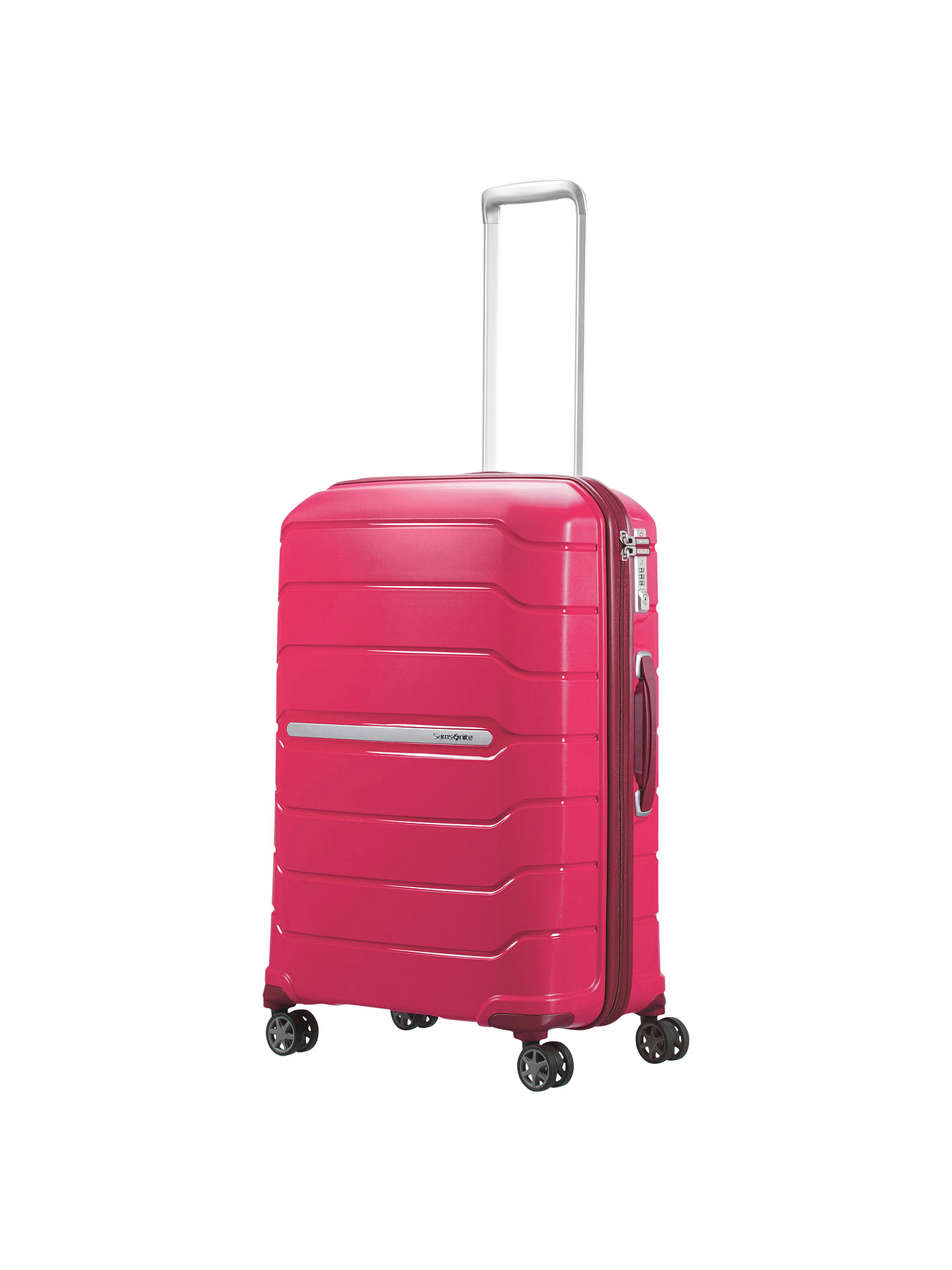 Buy Samsonite Flux Spinner 4-Wheel 68cm Medium Suitcase, Red Berry Online at johnlewis.com