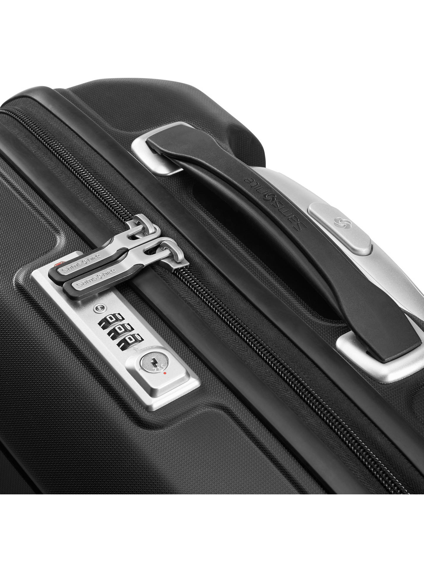 BuySamsonite Flux Spinner 4-Wheel 55cm Cabin Suitcase, Black Online at johnlewis.com