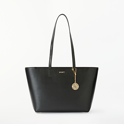 DKNY Bryant Medium Leather Tote Bag, Black