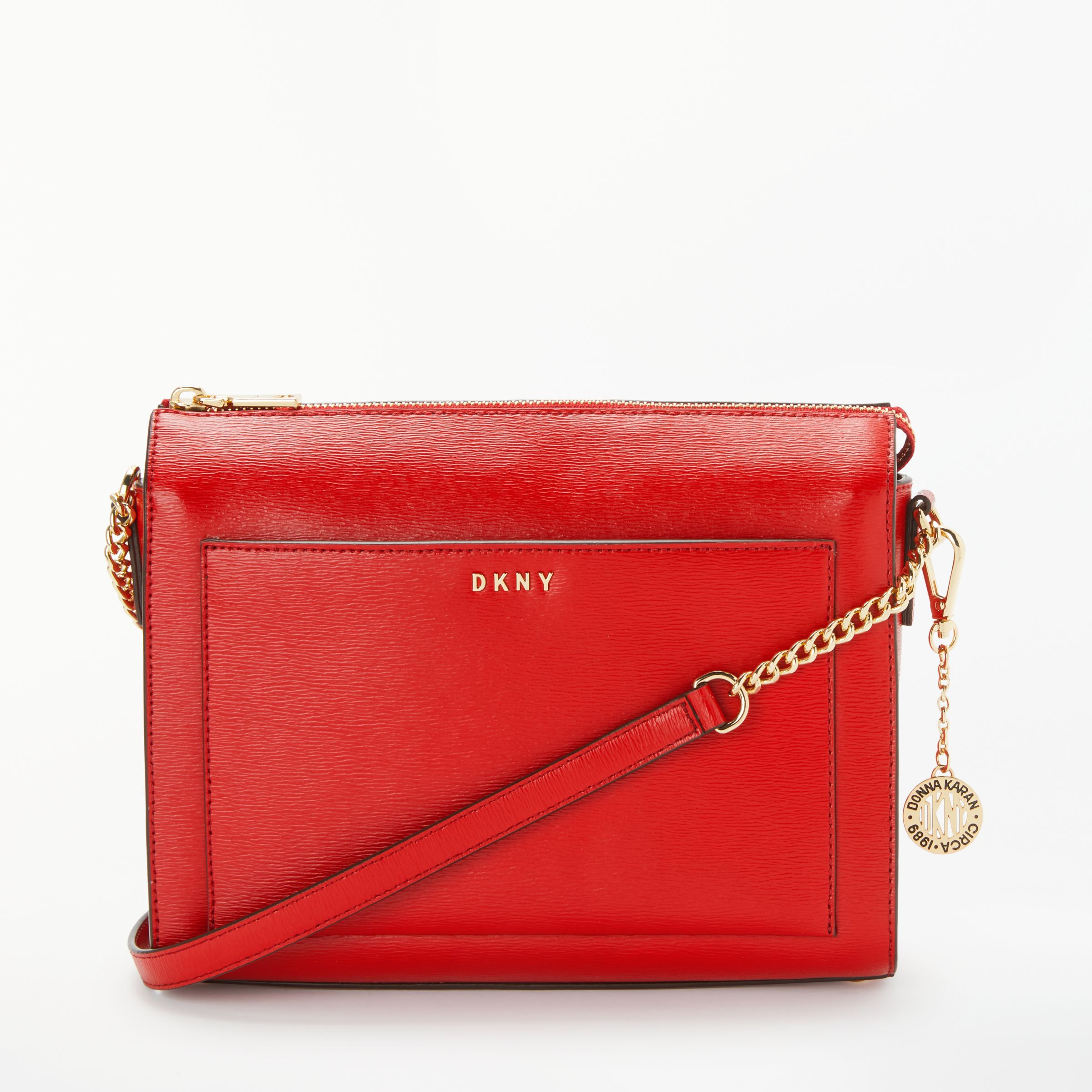 a71e7eb78770 DKNY Bryant Medium Leather Box Cross Body Bag