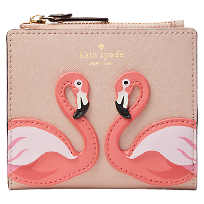 kate spade new york By The Pool Flamingo Adalyn Applique Leather Purse, Pink