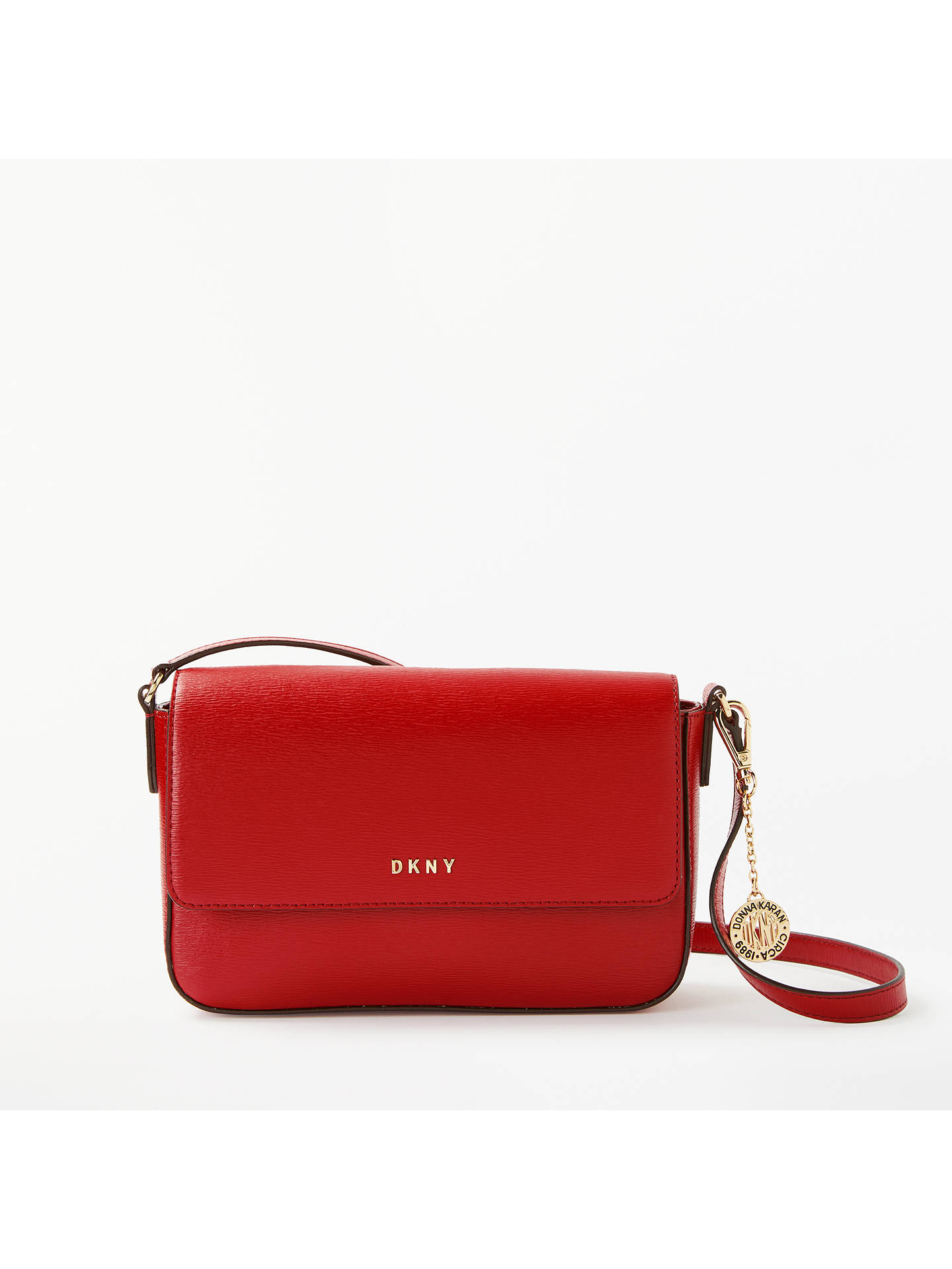 38af3b7c96f0 Buy DKNY Bryant Saffiano Leather Small Flap Cross Body Bag, Safari Red  Online at johnlewis ...