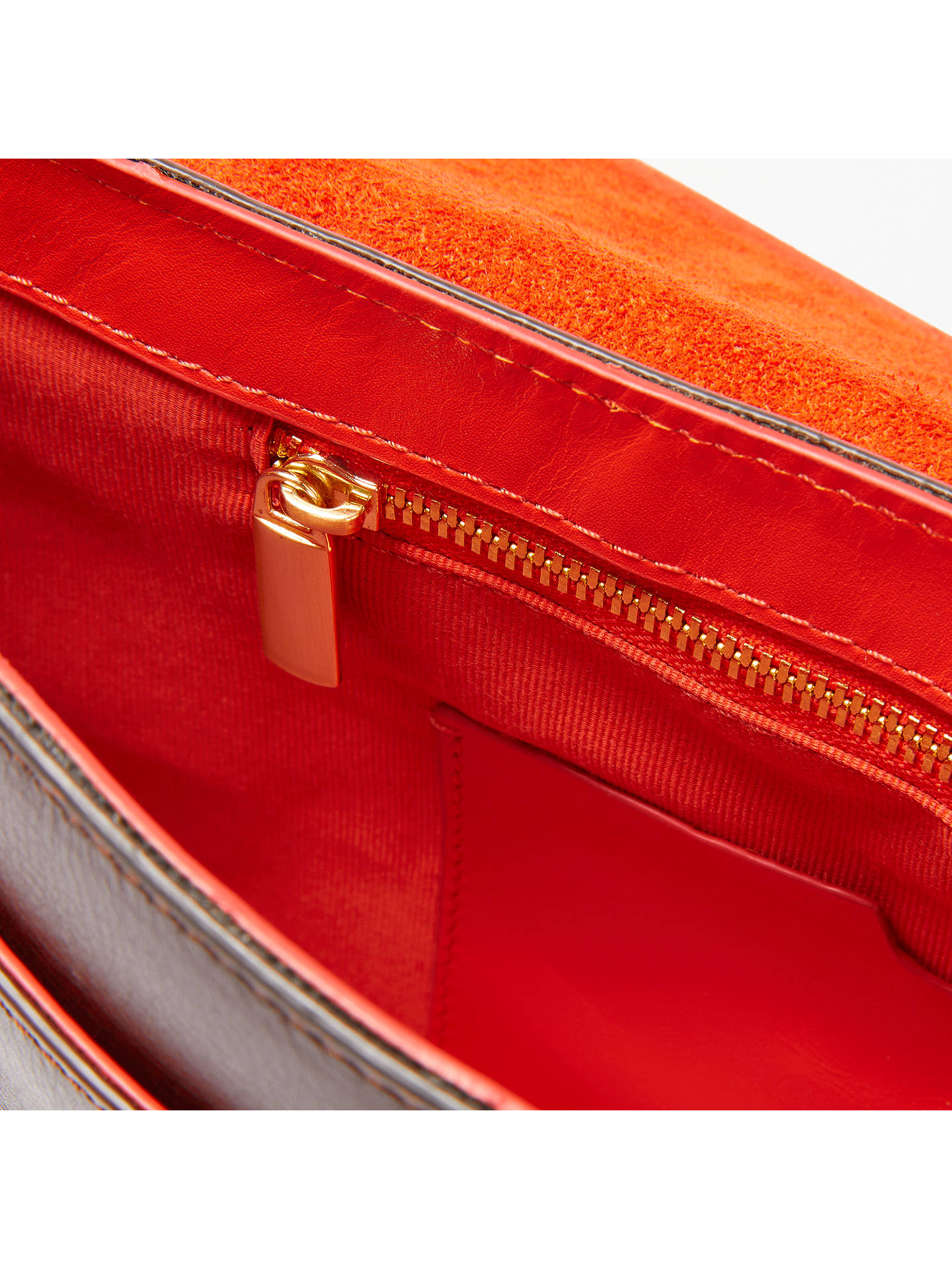Buy John Lewis & Partners Eden Leather Slim East/West Cross Body Bag, Multi/Orange Online at johnlewis.com